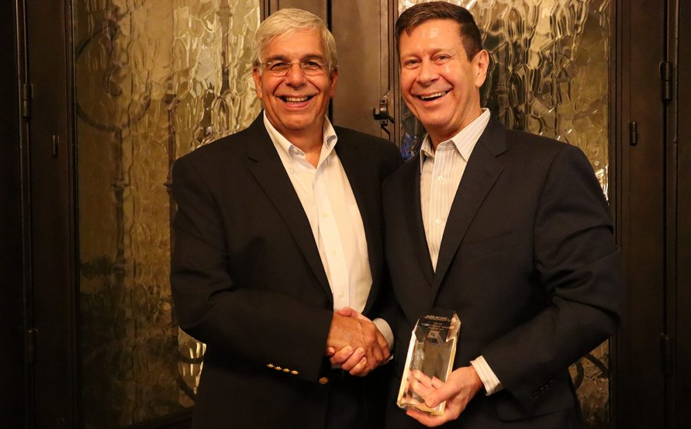 Abracon Ceo Mike Calabria And Tti Americas President Don Akery Regional Excellence Award 2020